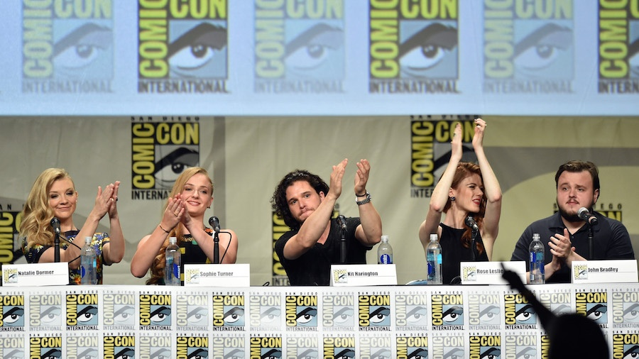 "attends HBO's ""Game Of Thrones"" panel and Q&A during Comic-Con International 2014 at San Diego Convention Center on July 25, 2014 in San Diego, California."
